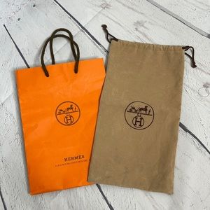 Auth Hermès Shopping bag and Duster bag set!